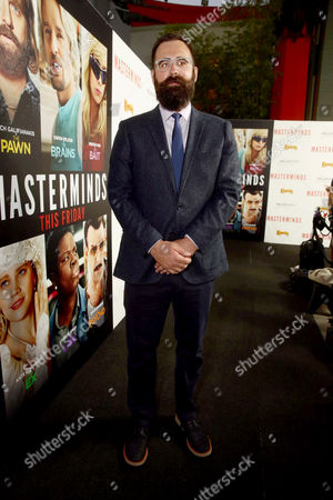 """Director Jared Hess seen at Relativity Studios Presents """"Masterminds"""" Los Angeles Premiere at TCL Chinese Theatre, in Hollywood"""