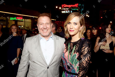 """Ryan Kavanaugh, CEO of Relativity Media, and Kristen Wiig seen at Relativity Studios Presents """"Masterminds"""" Los Angeles Premiere at TCL Chinese Theatre, in Hollywood"""