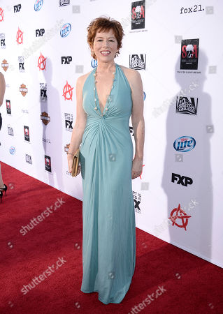 """Actress McNally Sagal arrives on the red carpet at the season six premiere screening of the television series """"Sons of Anarchy"""" at the Dolby Theatre on in Los Angeles"""