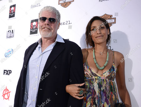 Actor Ron Perlman and daughter, Blake Perlman arrive on the red carpet at the season six premiere screening of the television series 'Sons of Anarchy' at the Dolby Theatre on in Los Angeles
