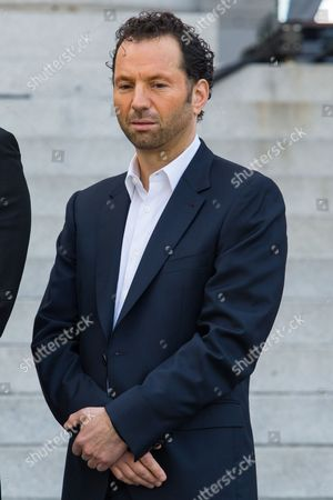 Michael Rapino, President and CEO of Live Nation Entertainment, during the announcement of the Made in America Festival from the steps of City Hall on in Los Angeles