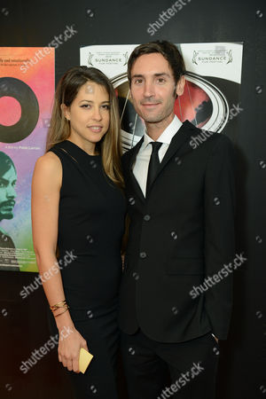 Brittany Huckabee and Malik Bendjelloul attend the Sony Pictures Classics Pre-Oscar Dinner at The London Hotel on in West Hollywood, California