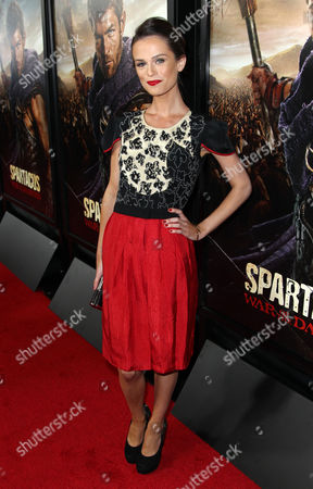 "Gwendoline Taylor arrives at the premiere of ""Spartacus: War of the Damned"" on in Los Angeles. ""Spartacus: War of the Damned"" premieres Friday, Jan. 25 at 9PM on STARZ"
