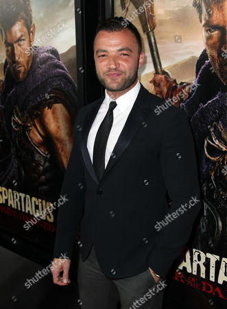 """Nick Tarabay arrives at the premiere of """"Spartacus: War of the Damned"""" on in Los Angeles. """"Spartacus: War of the Damned"""" premieres Friday, Jan. 25 at 9PM on STARZ"""