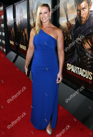 """Vanessa Cater arrives at the premiere of """"Spartacus: War of the Damned"""" on in Los Angeles. """"Spartacus: War of the Damned"""" premieres Friday, Jan. 25 at 9PM on STARZ"""