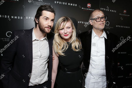 """Jim Sturgess, Kirsten Dunst and Director/Writer Juan Solanas at the LA special screening of Millennium Entertainment's """"Upside Down"""" at the ArcLight Hollywood on in Los Angeles"""