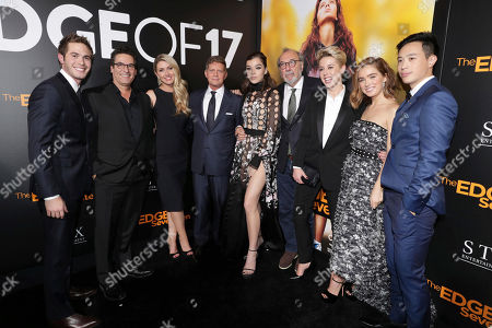 "Blake Jenner, Oren Aviv, President and Chief Content Officer for Motion Picture Group, STX Entertainment, Writer/Director Kelly Fremon Craig, Robert Simonds, Chairman and CEO of STX Entertainment, Hailee Steinfeld, Producer James L. Brooks, Sophie Watts, President of STX Entertainment, Haley Lu Richardson and Hayden Szeto seen at STX Entertainment Special Screening of ""The Edge of Seventeen"" at the Regal LA LIVE, in Los Angeles"