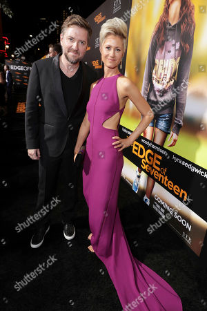 "Stock Photo of Composer Atli Orvarsson and Anna Orvarsson seen at STX Entertainment Special Screening of ""The Edge of Seventeen"" at the Regal LA LIVE, in Los Angeles"
