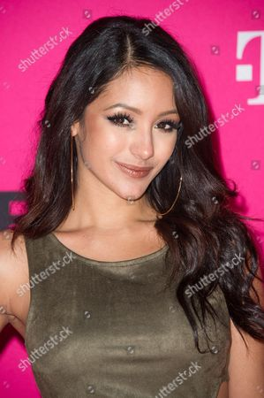 Stock Picture of Model Melanie Iglesias attends T-Mobile's Launch of Un-carrier X held at the Shrine Auditorium, in Los Angeles