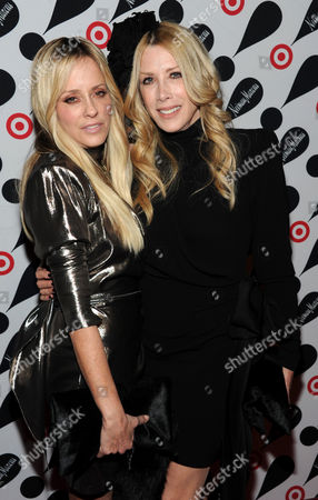 Pamela Skaist-Levy, left, and Gela Nash-Taylor attend the Target and Neiman Marcus holiday collection launch on in New York