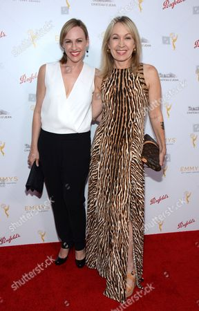 Marguerite Derricks and Jennifer Hamilton arrive at the Television Academy's 67th Primetime Emmy Choreographers Nominee Reception at the Montage Beverly Hills on in Beverly Hills, Calif