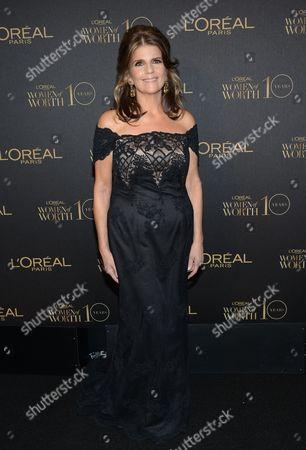 "L'Oreal Paris president Karen Fondu arrives at the tenth annual L'Oreal Paris ""Women of Worth"" awards gala at The Pierre Hotel, in New York"