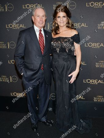 """Michael Bloomberg and L'Oreal Paris president Karen Fondu attend the tenth annual L'Oreal Paris """"Women of Worth"""" awards gala at The Pierre Hotel, in New York"""