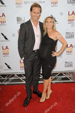 """Stock Image of Nat Faxon, left, and Meaghan Gadd arrive at the closing night of the LA Film Festival and the LA premiere of """"The Way, Way Back"""" at the Regal Cinemas on in Los Angeles"""