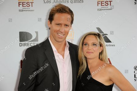 """Stock Picture of Nat Faxon, left, and Meaghan Gadd arrive at the closing night of the LA Film Festival and the LA premiere of """"The Way, Way Back"""" at the Regal Cinemas on in Los Angeles"""