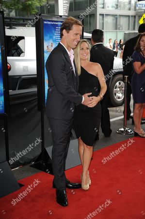 """Nat Faxon, left, and Meaghan Gadd arrive at the closing night of the LA Film Festival and the LA premiere of """"The Way, Way Back"""" at the Regal Cinemas on in Los Angeles"""