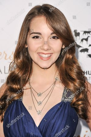 Stock Photo of Hayley Pullos arrives at The Humane Society Of The United States 60th Anniversary Benefit Gala, in Beverly Hills, Calif