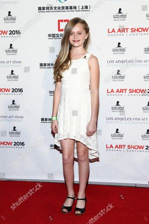 Hannah Nordberg attends The LA Art Show and The LA Fine Art Show Opening Night Premiere Party held at the LA Convention Center, in Los Angeles