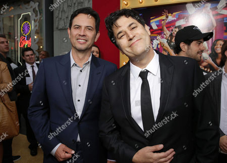 Screenwriters Keith Merryman and David A. Newman seen at the The World Premiere of Screen Gems' 'Think Like a Man Too' on in Los Angeles