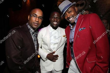 Director Tim Story, Kevin Hart and Producer William Packer seen at the The World Premiere of Screen Gems' 'Think Like a Man Too' on in Los Angeles