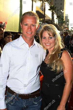 """JULY 24: Valeri Bure and Candace Cameron Bure at the World Premiere of Touchstone Pictures' """"Swing Vote"""" on at the El Capitan Theatre in Hollywood, CA"""