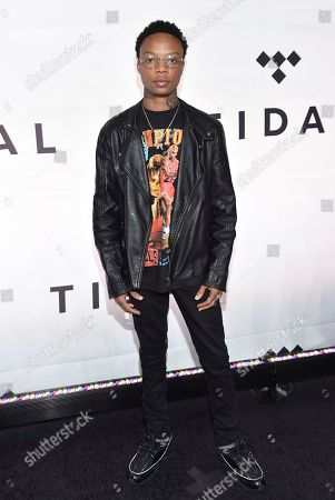 Stock Picture of Levi Carter attends the Tidal X: 1015 benefit concert, hosted by Tidal and the Robin Hood Foundation, at the Barclays Center, in New York