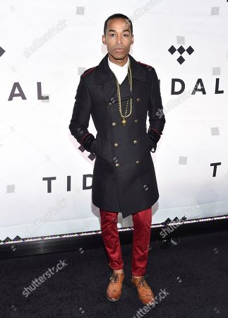 Sir The Baptist attends the Tidal X: 1015 benefit concert, hosted by Tidal and the Robin Hood Foundation, at the Barclays Center, in New York