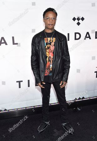 Levi Carter attends the Tidal X: 1015 benefit concert, hosted by Tidal and the Robin Hood Foundation, at the Barclays Center, in New York