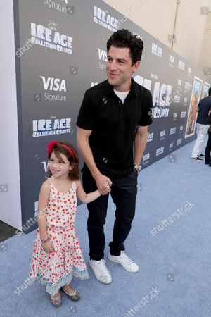 "Lilly Greenfield and Max Greenfield seen at Twentieth Century Fox ""Ice Age: Collision Course"" Friends and Family Screening at Zanuck Theater, in Los Angeles"
