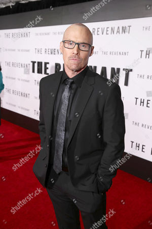 Stock Picture of Screenwriter Mark L. Smith seen at Twentieth Century Fox World Premiere of 'The Revenant' at TCL Chinese Theatre, in Hollywood, CA