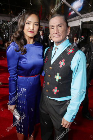 Grace Dove and Duane Howard seen at Twentieth Century Fox World Premiere of 'The Revenant' at TCL Chinese Theatre, in Hollywood, CA