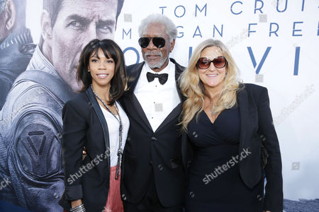 """Morgana Freeman, Morgan Freeman and Laurie McCreary at Universal Pictures Presents the American Premiere of """"Oblivion"""" held at the TCL Chinese Theater on in Los Angeles"""