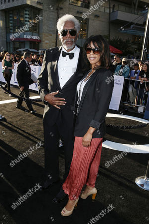 """Morgan Freeman and daughter Morgana Freeman at Universal Pictures Presents the American Premiere of """"Oblivion"""" held at the TCL Chinese Theater on in Los Angeles"""