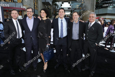 """Universal President of Marketing Josh Goldstine, Producer Peter Chernin, Universal Pictures co-Chairman Donna Langley, Producer Dylan Clark, Chairman of Universal Pictures Adam Fogelson and Universal Studios President and COO Ron Meyer at Universal Pictures Presents the American Premiere of """"Oblivion"""" held at the TCL Chinese Theater on in Los Angeles"""