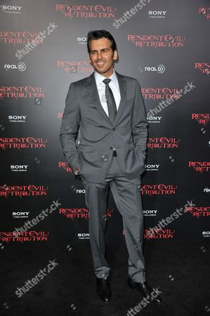 """Oded Fehr attends the US premiere of """"Resident Evil: Retribution"""" at Regal Cinemas L.A. Live on in Los Angeles"""