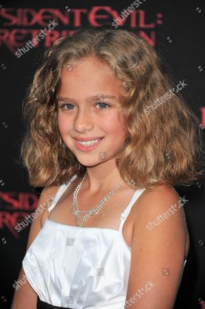 """Aryana Engineer attends the US premiere of """"Resident Evil: Retribution"""" at Regal Cinemas L.A. Live on in Los Angeles"""