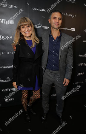 Stock Picture of Director Catherine Hardwicke and Producer Christopher Simon at the Vanity Fair toast of FREEHELD at TIFF 2015 presented by Hugo Boss and supported by Jaeger-LeCoultre, in Toronto, Canada