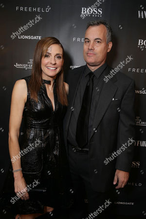 Producer Cynthia Wade and actor Matthew Syrett at the Vanity Fair toast of FREEHELD at TIFF 2015 presented by Hugo Boss and supported by Jaeger-LeCoultre, in Toronto, Canada