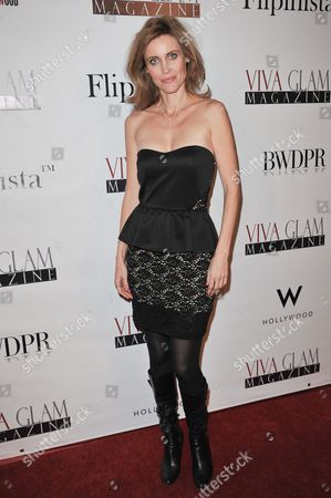 Silvia Suvadova attends the Viva Glam November Issue Party at Station Hollywood, in Los Angeles