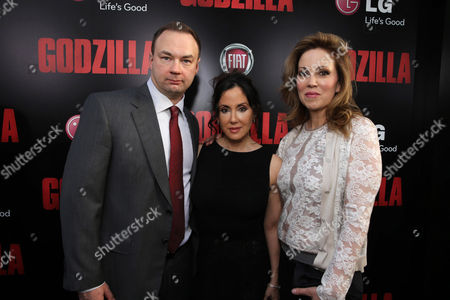 Legendary Picture's Thomas Tull, Alba Tull and Producer Mary Parent seen at Warner Bros. Pictures and Legendary Pictures Present the Los Angeles Premiere of 'Godzilla' at Dolby Theatre, in Hollywood