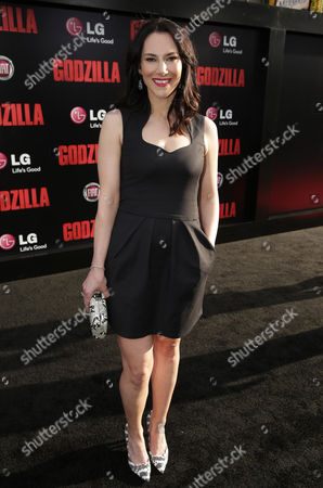 Kyra Zagorsky seen at Warner Bros. Pictures and Legendary Pictures Present the Los Angeles Premiere of 'Godzilla' at Dolby Theatre, in Hollywood