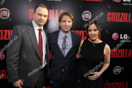 Legendary Picture's Thomas Tull, Director Gareth Edwards and Alba Tull seen at Warner Bros. Pictures and Legendary Pictures Present the Los Angeles Premiere of 'Godzilla' at Dolby Theatre, in Hollywood