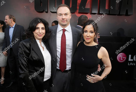 Sue Kroll, President of Worldwide Marketing and International Distribution at Warner Bros. Pictures, Legendary Picture's Thomas Tull and Alba Tull seen at Warner Bros. Pictures and Legendary Pictures Present the Los Angeles Premiere of 'Godzilla' at Dolby Theatre, in Hollywood