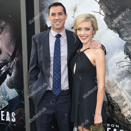 """Stock Picture of Brad Peyton, left and Breanne Hill arrive at the World Premiere Of """"San Andreas"""" held at the TCL Chinese Theater, in Los Angeles"""