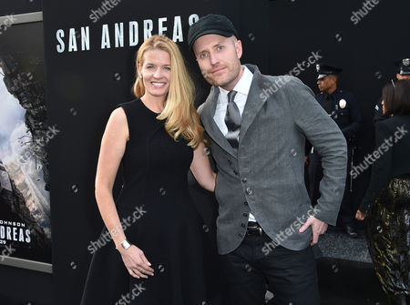 "Composer Andrew Lockington, right, and Christy Lockington arrive at the world premiere of ""San Andreas"" at the TCL Chinese Theatre, in Los Angeles"