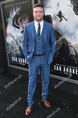 "Hugo Johnstone-Burt arrives at the World Premiere Of ""San Andreas"" held at the TCL Chinese Theater, in Los Angeles"