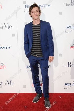 "Robby Rasmussen arrives at the World Premiere of ""The Best Of Me"", in Los Angeles"