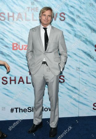 "Writer Anthony Jaswinski attends the world premiere of ""The Shallows"" at AMC Loews Lincoln Square, in New York"