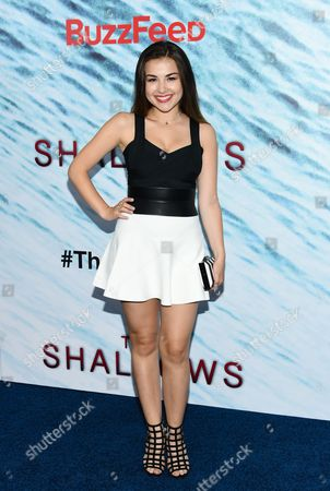 "Actress Esther Zynn attends the world premiere of ""The Shallows"" at AMC Loews Lincoln Square, in New York"
