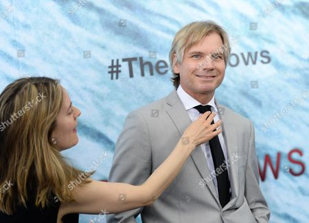 "Stock Photo of Writer Anthony Jaswinski attends the world premiere of ""The Shallows"" at AMC Loews Lincoln Square, in New York"